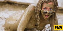 Dirty fun at mud festival