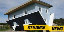The world stands on its head - upside down house