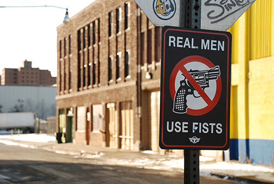 real-man-use-fists
