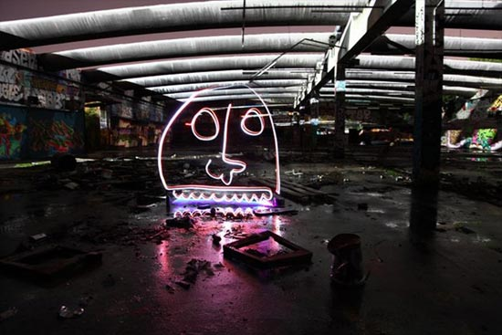 light-paint-face