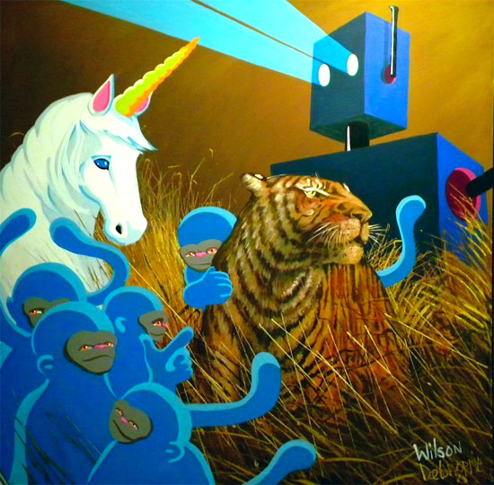 tiger-unicorn-monkey-robots