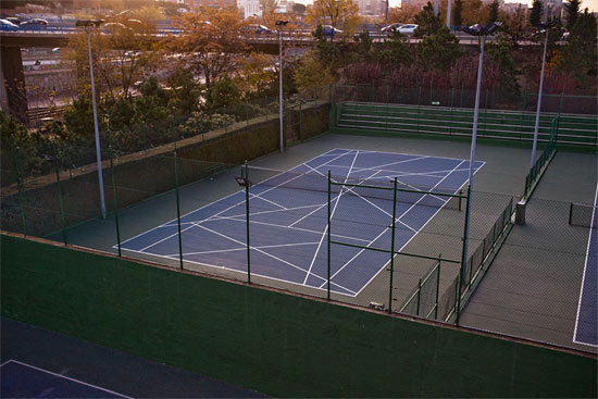 tennis-ground-taped