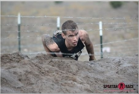 Spartan Race barbwire
