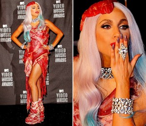 Shocking Lady Gaga Outfits and Meat Dress