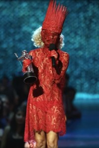 Shocking Lady Gaga Outfits and Red Lace
