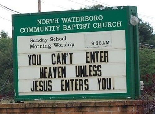 Dirty Church Signs