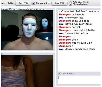 chat roulette screenshot funny mask fail