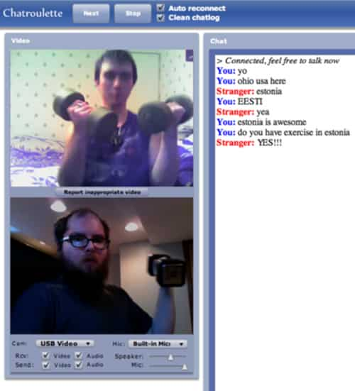 Chat Roulette Estonia Exercise