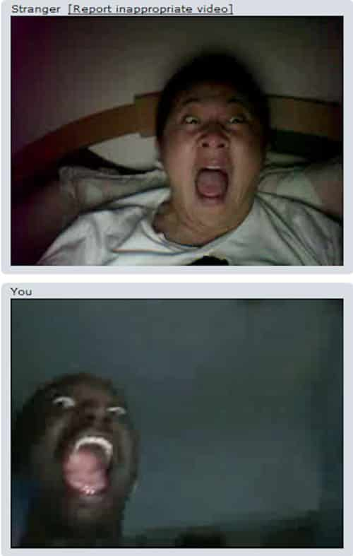 Funny Chat Roulette Scared