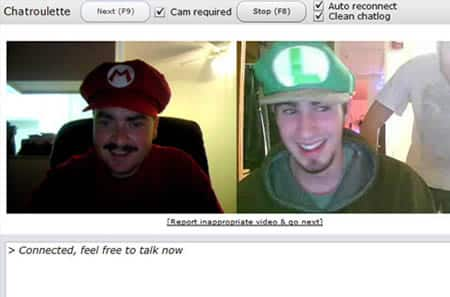Mario Bros chatroulette screenshots