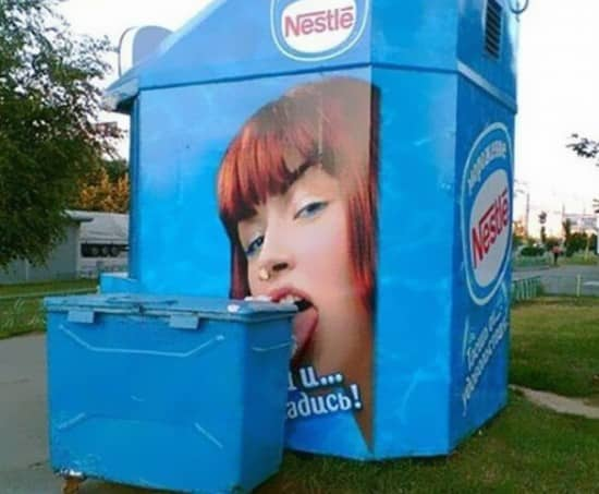 Funny Advertisement Fails and Nestle Print Model