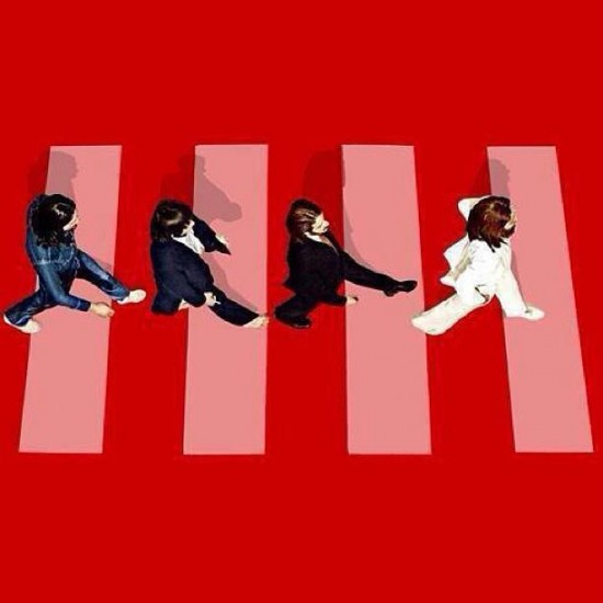 Versions of the Equal Rights Symbol on Facebook and The Beatles