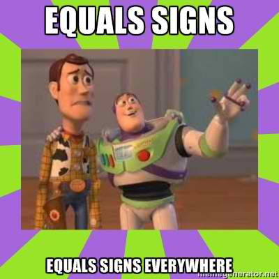 Versions of the Equal Rights Symbol on Facebook and Toy Story