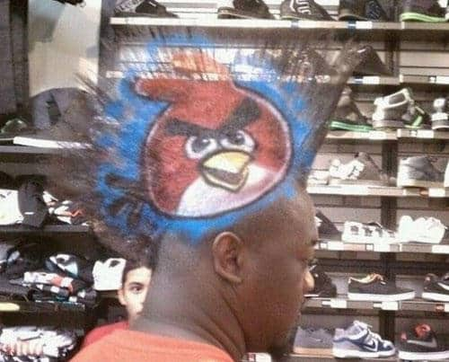 Weirdest Haircuts and The Angry Birds Haircut