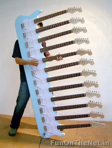 Bizarre Musical Instruments and 12-neck guitar