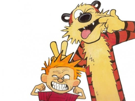 Famous Cats and Hobbes from Calvin and Hobbes