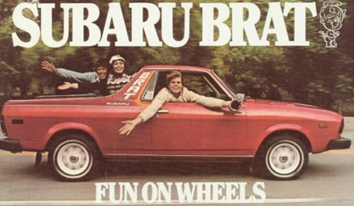 Worst Car Names and Subaru Brat