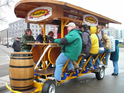 Strange Methods of Transport and The Pedal Pub