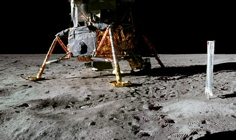 Controversial Points About the Moon Landings and absence of crater
