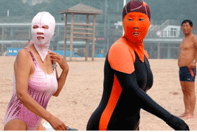 Fashion Disasters and The Facekini, China