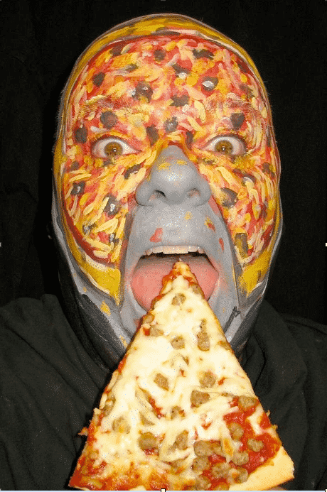 The Pizza Face and Weirdest Painted Faces