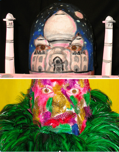 The Weirdest Painted Faces and the Taj Mahal Face
