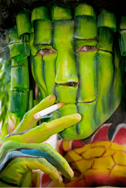 The Strange Bamboo Painted Face