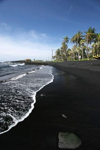 Black Punaluu Beach and Unusual Beaches