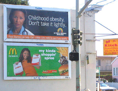 The Obesity Warning Billboard
