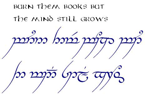 how to write in elvish lotr
