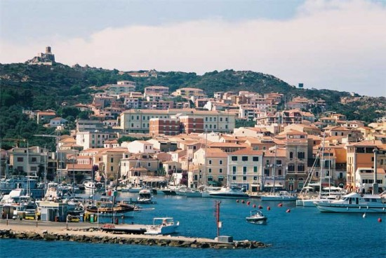 La Maddalena is an Italian coastal town