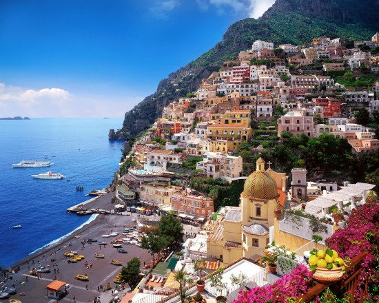 Positano is an Italian coastal town.