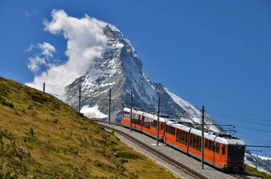 Switzerland Zermatt. Gornergrat Bahn