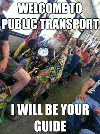 Weird People and The Funniest Things about Public Transport