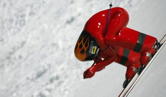 Winter Olympic Sports speed skiing