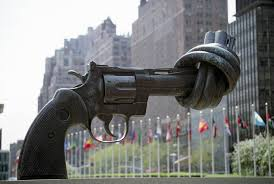 awesome sculptures non-violence