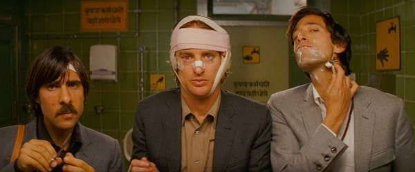 The three brothers from The Darjeeling Limited are one of the  8 Amazing Portraits from Wes Anderson Movies