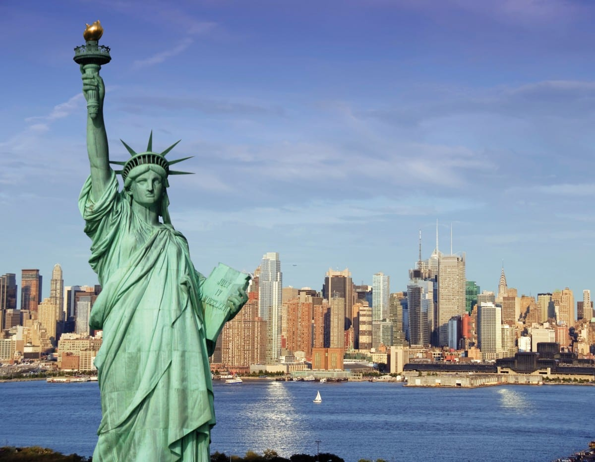 The Statue of Liberty is part of some New York native thoughts.