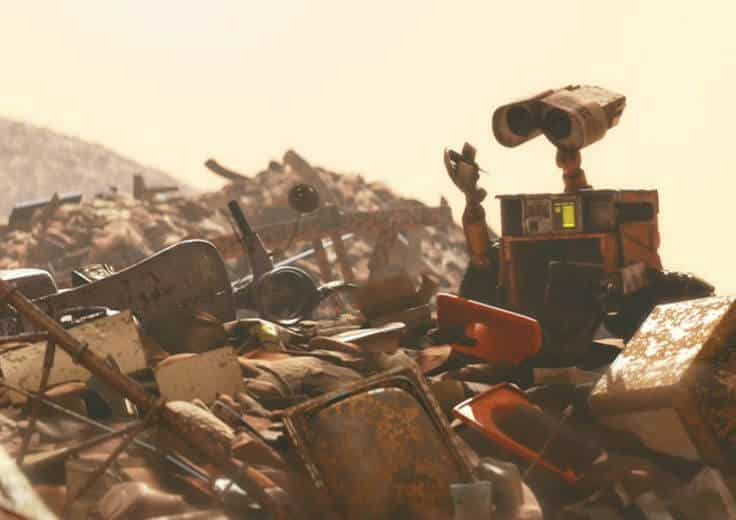 One of the top 12 Pixar easter eggs is Remy's scooter as seen in WALL-E.