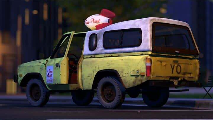 The Pizza Planet truck is one of the top 12 Pixar easter eggs.