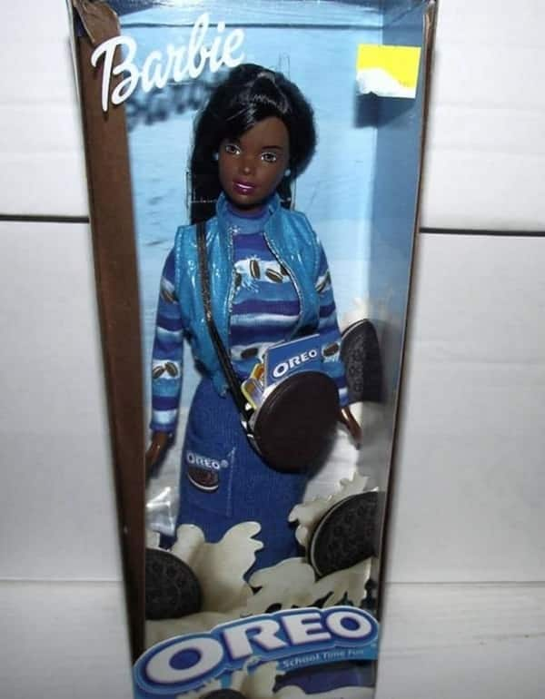 5 inappropriate real toys - The black Oreo Fun Barbie pictured here