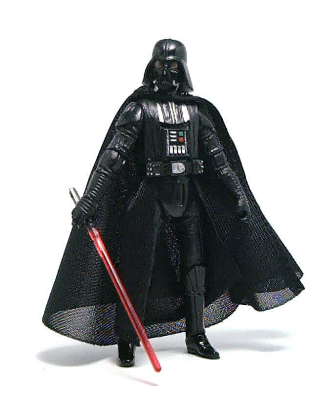 The Darth Vader action figure was quite popular.