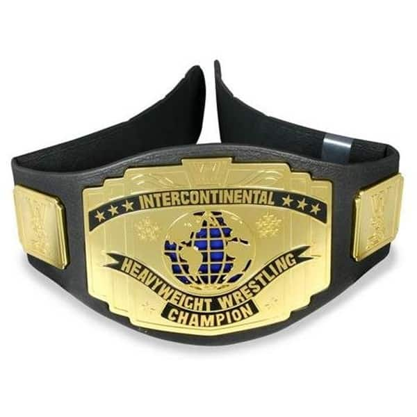 One of the most iconic WWE Championship belts is the Old WWE Intercontinental Championship Belt pictured here.