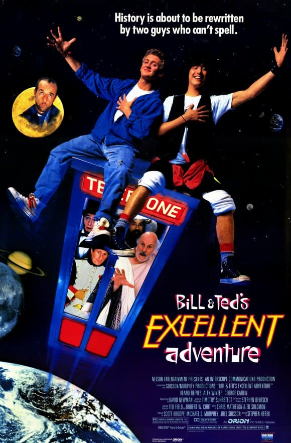 The top 6 best comedies from the 80s includes Bill and Ted's Excellent Adventure.
