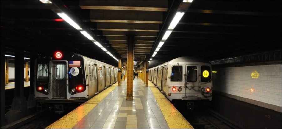 Parts of the New York subway were completely shut down in order to catch a fugitive.