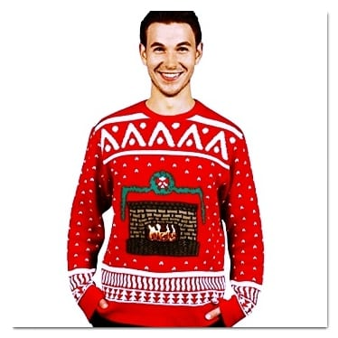 best ugly Christmas sweaters digital fireplace