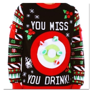 best ugly Christmas sweaters drinking game sweater