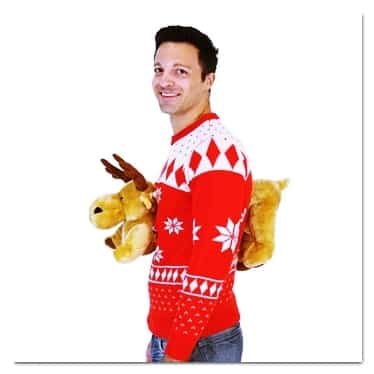 best ugly Christmas sweaters moose sweater