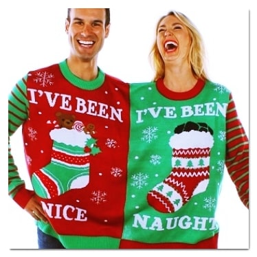 best ugly Christmas sweaters naughty or nice sweater