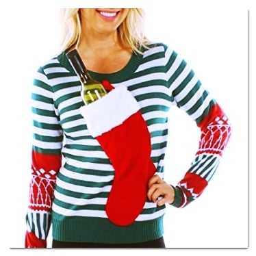 best ugly Christmas sweaters stocking sweater
